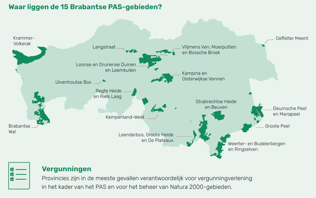 PAS gebieden in Nederland
